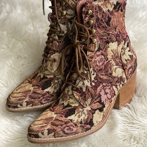Jeffrey Campbell floral boots